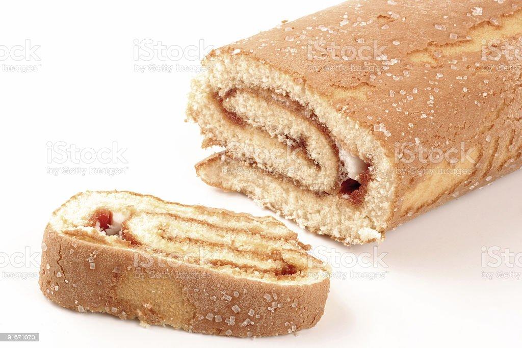 Swiss roll cake royalty-free stock photo