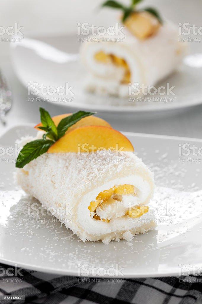 Swiss Roll, Food,Fruitcake stock photo