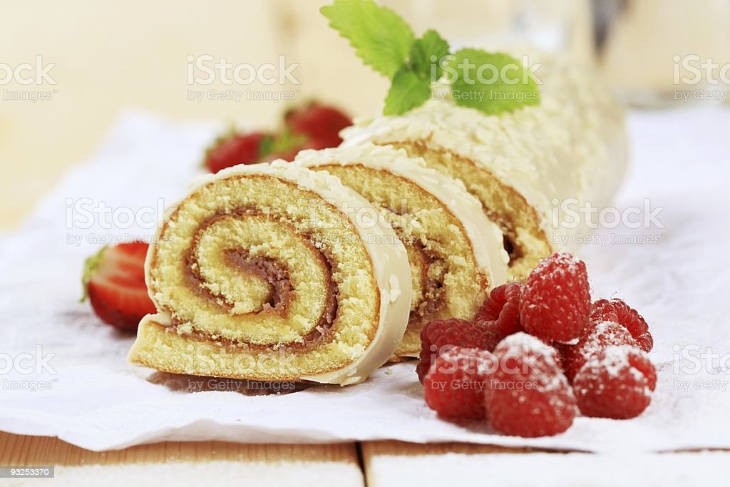 Swiss roll stock photo