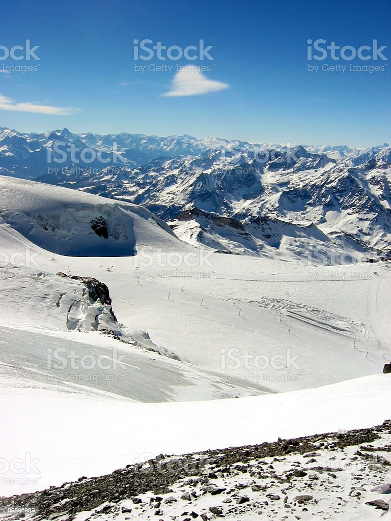 Swiss Ski Resort stock photo