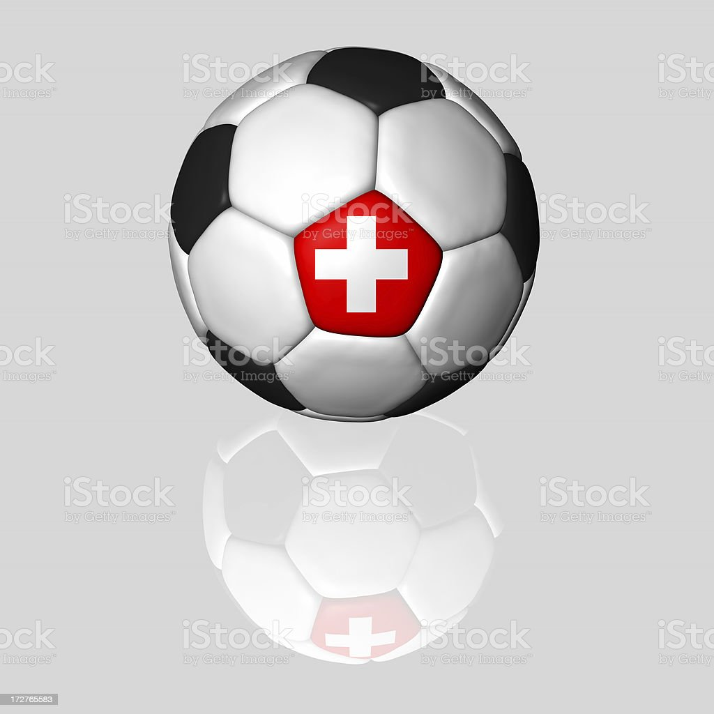 swiss soccer ball royalty-free stock photo