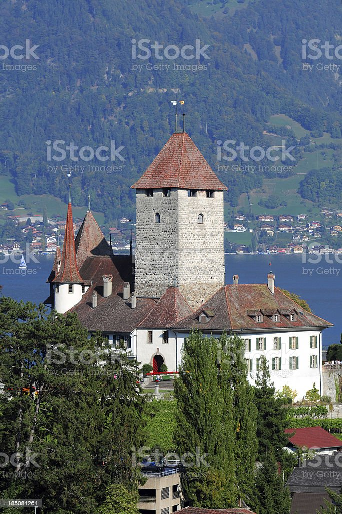 Swiss Spiez Castle - XLarge royalty-free stock photo