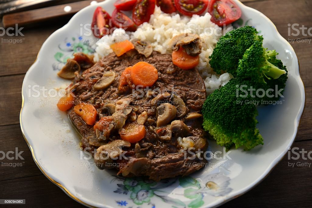 Swiss steak stock photo
