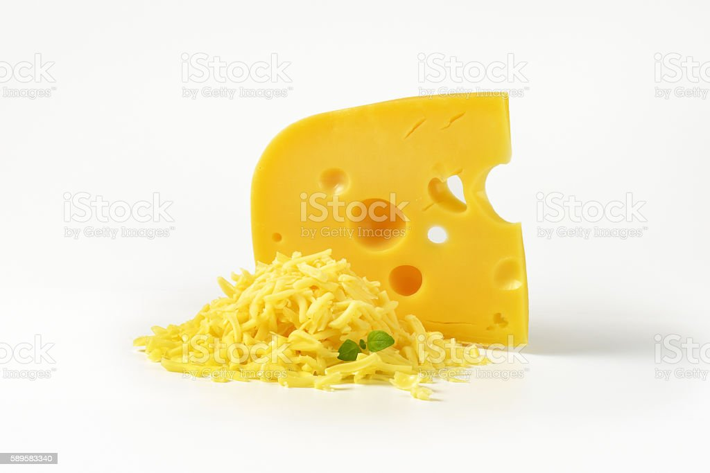 Swiss style cheese stock photo