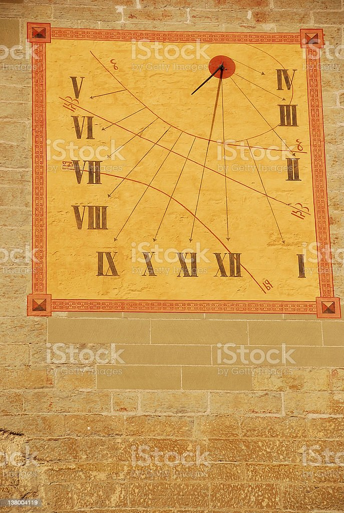 Swiss Sundial royalty-free stock photo