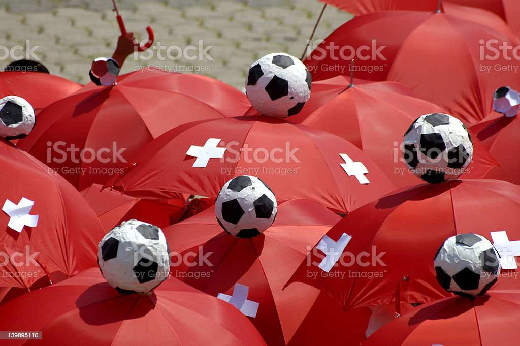Swiss supporters stock photo