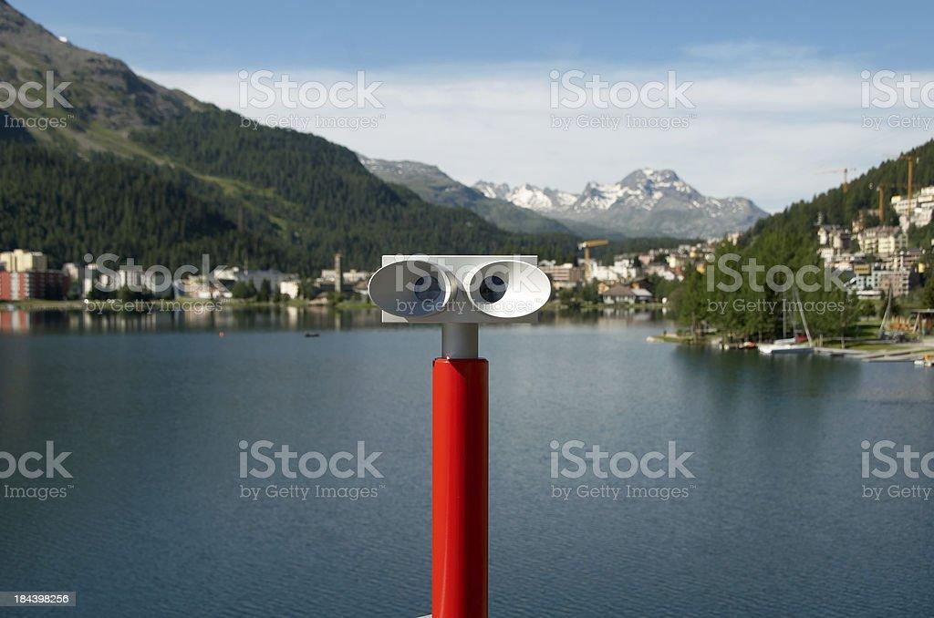 Swiss tourist binocular royalty-free stock photo