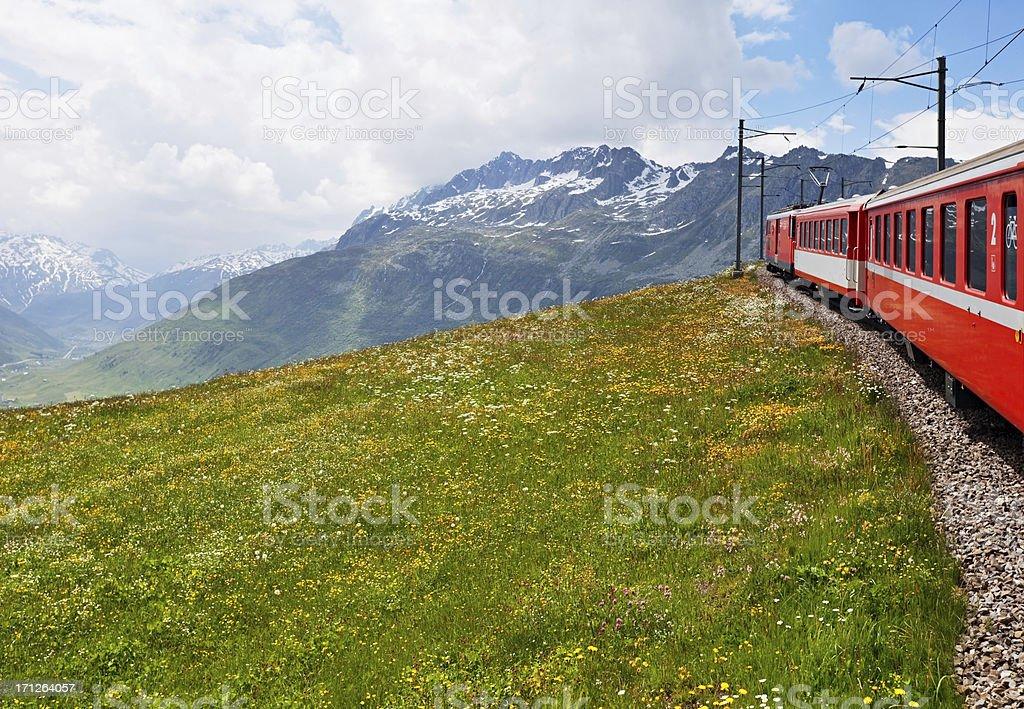 Swiss train stock photo