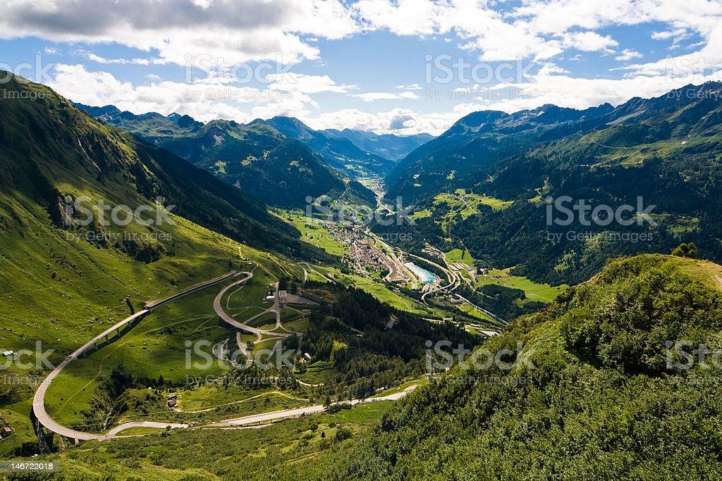 Swiss View royalty-free stock photo