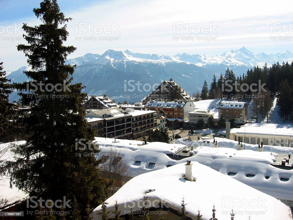 Swiss Village stock photo