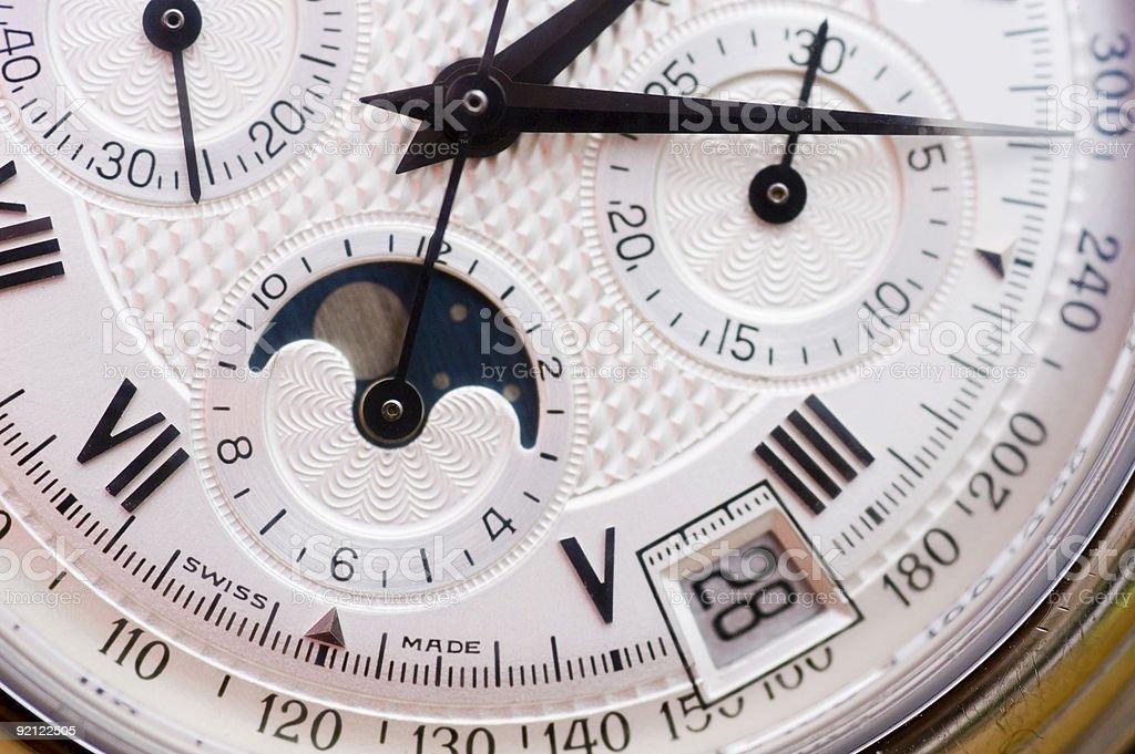 Swiss watch close up royalty-free stock photo