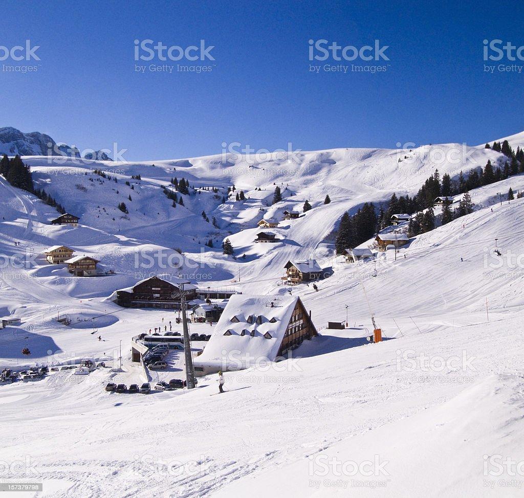 Swiss wonderland stock photo