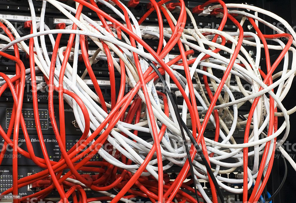 switch and cables royalty-free stock photo