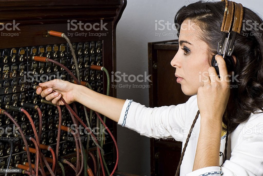 Switch Board Operator stock photo