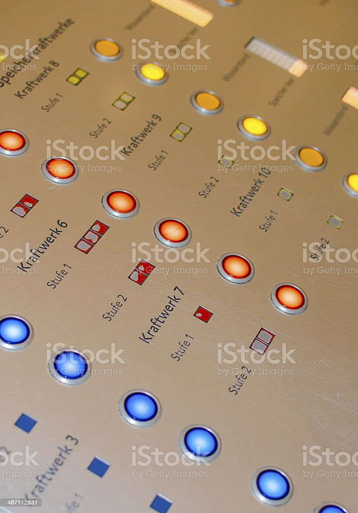 Switch Board stock photo