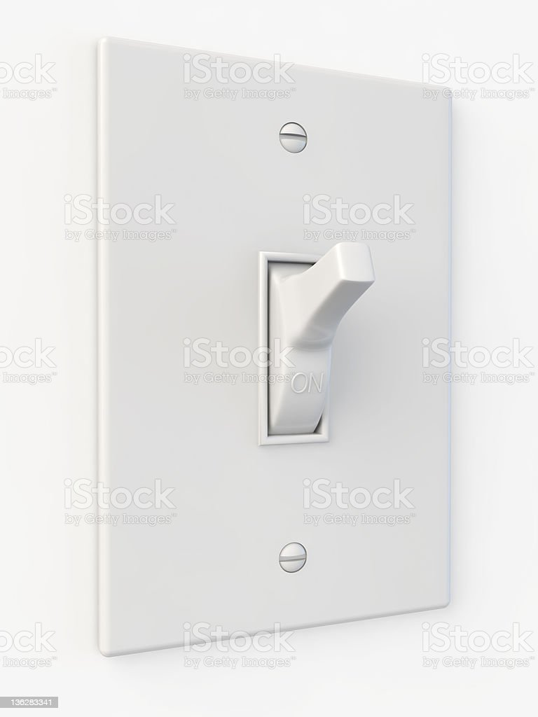 switch button on stock photo