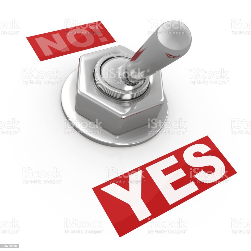 Switch Button - Yes or No! stock photo