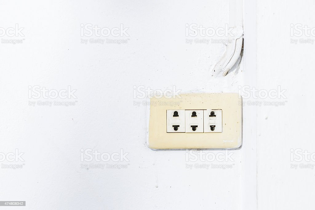 Switch button.Electrical element stock photo