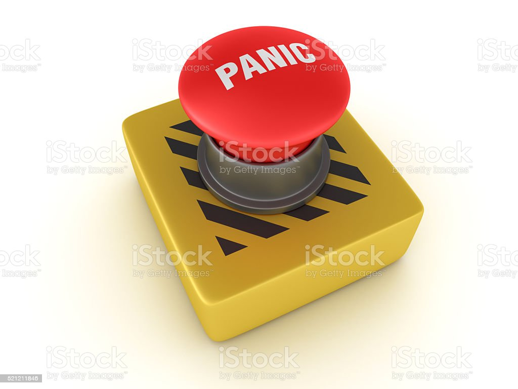 Switch Buttons Series: PANIC stock photo