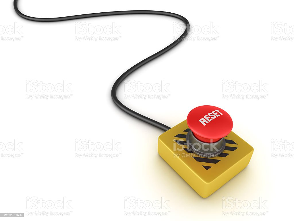 Switch Buttons Series: RESET stock photo