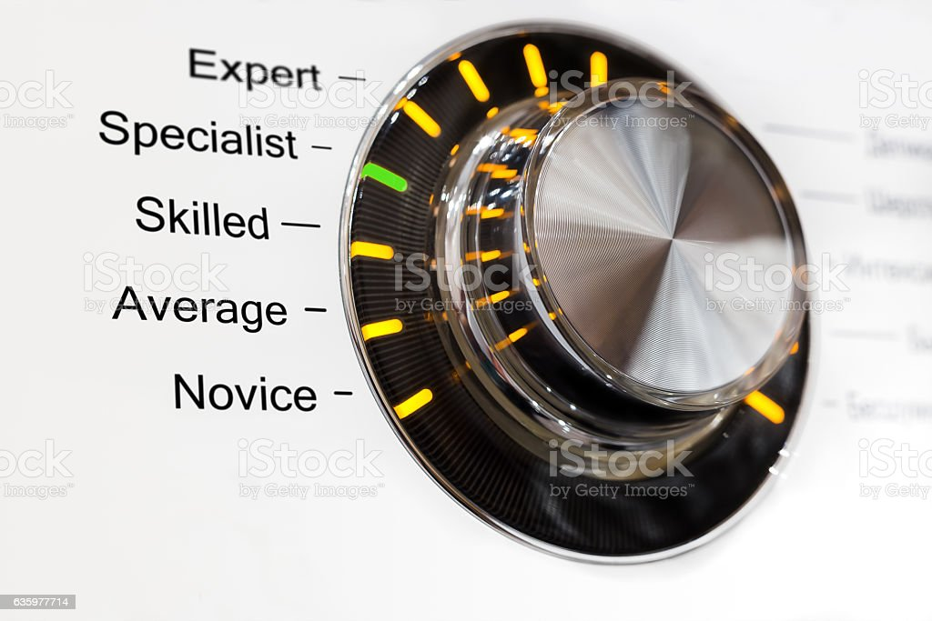 Switch five skill levels stock photo