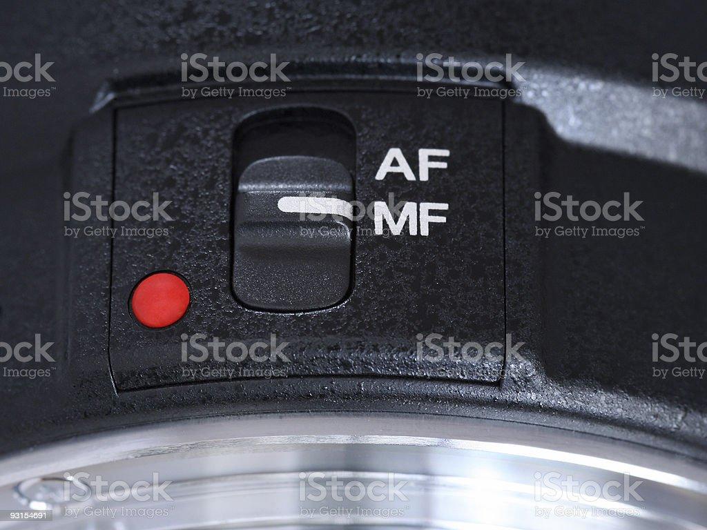 AF/MF switch macro stock photo