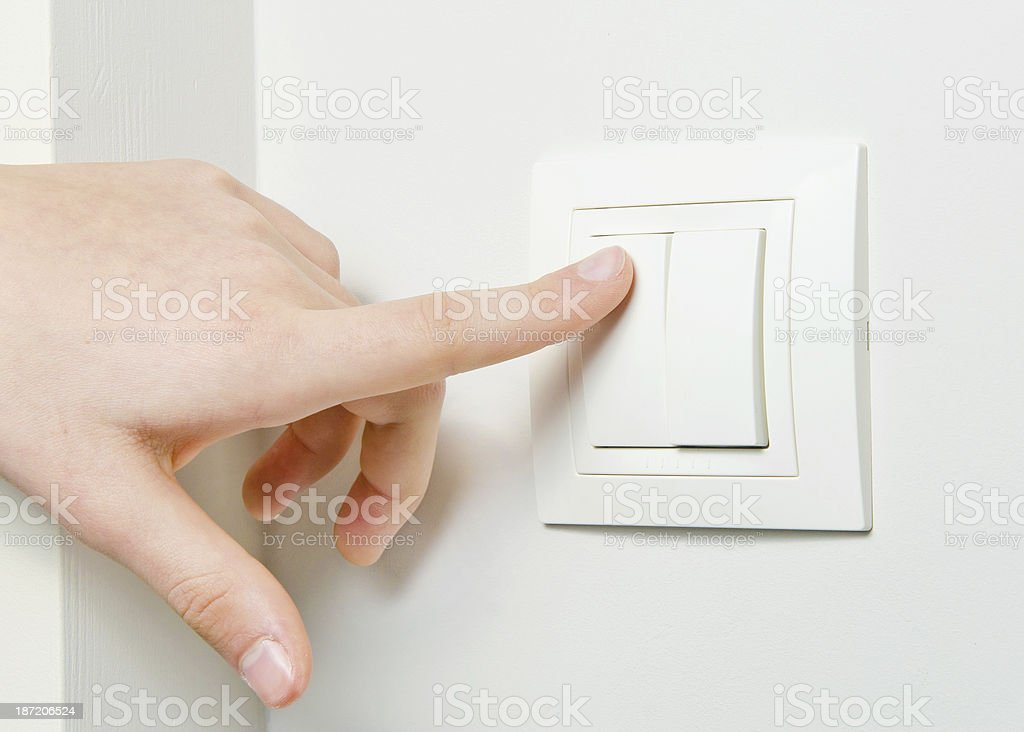 Switch off light royalty-free stock photo
