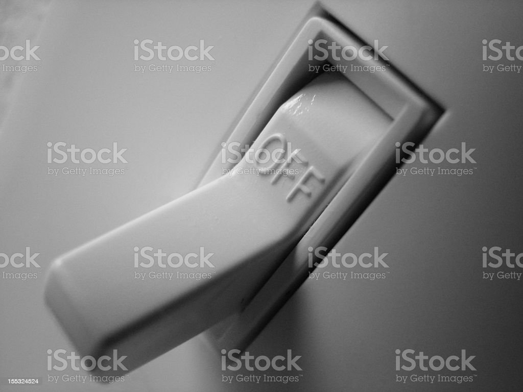 Switch off stock photo