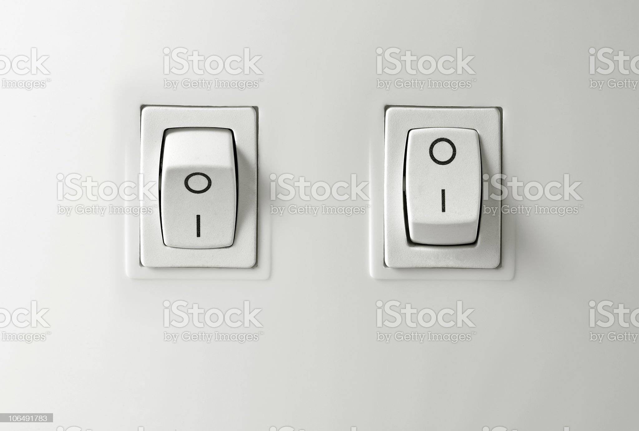 Switch on / off button royalty-free stock photo