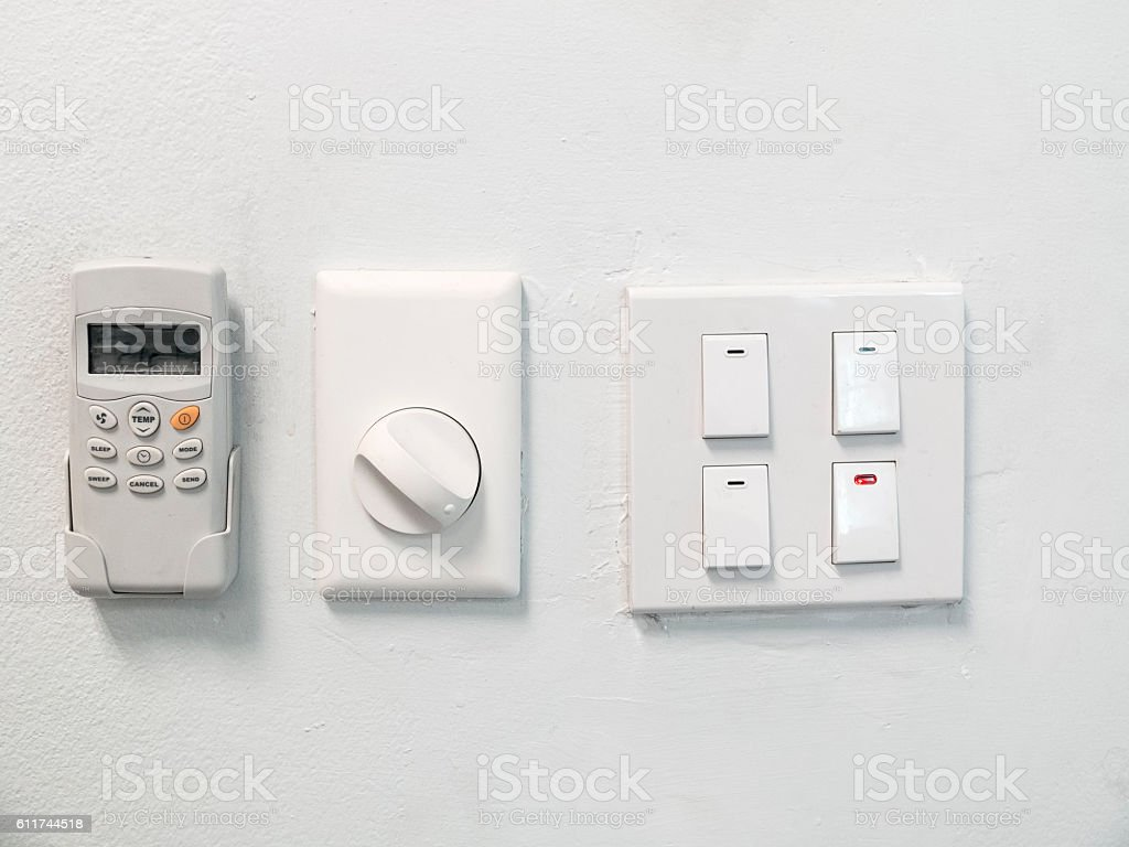 Switch on - off stock photo