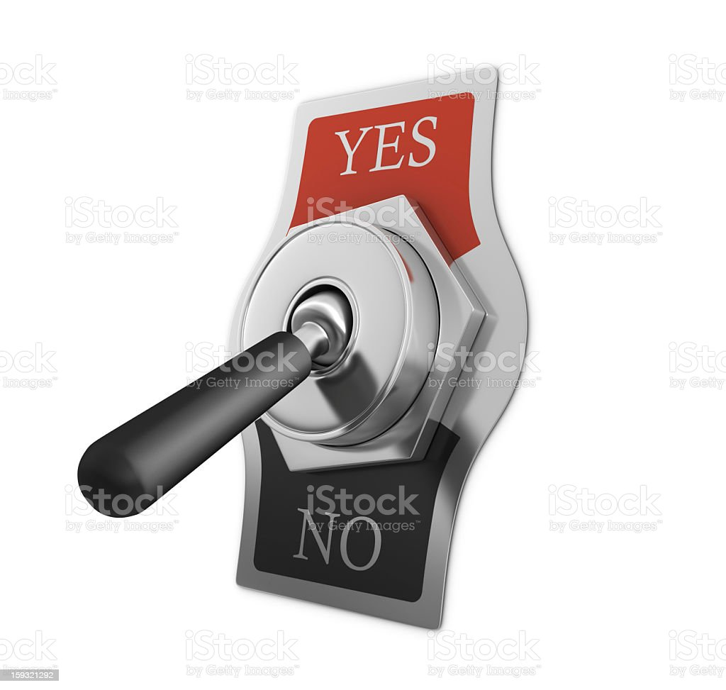 YES - NO Switch stock photo