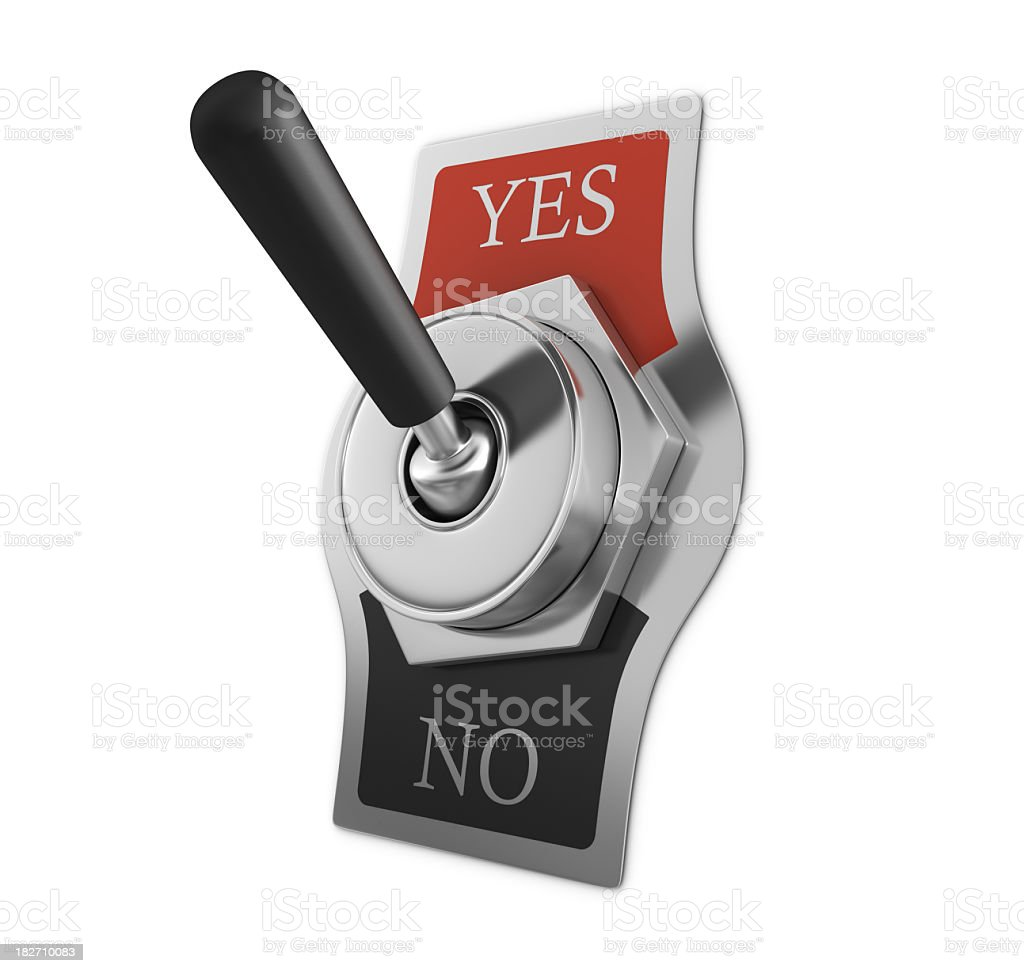 YES - NO Switch royalty-free stock photo