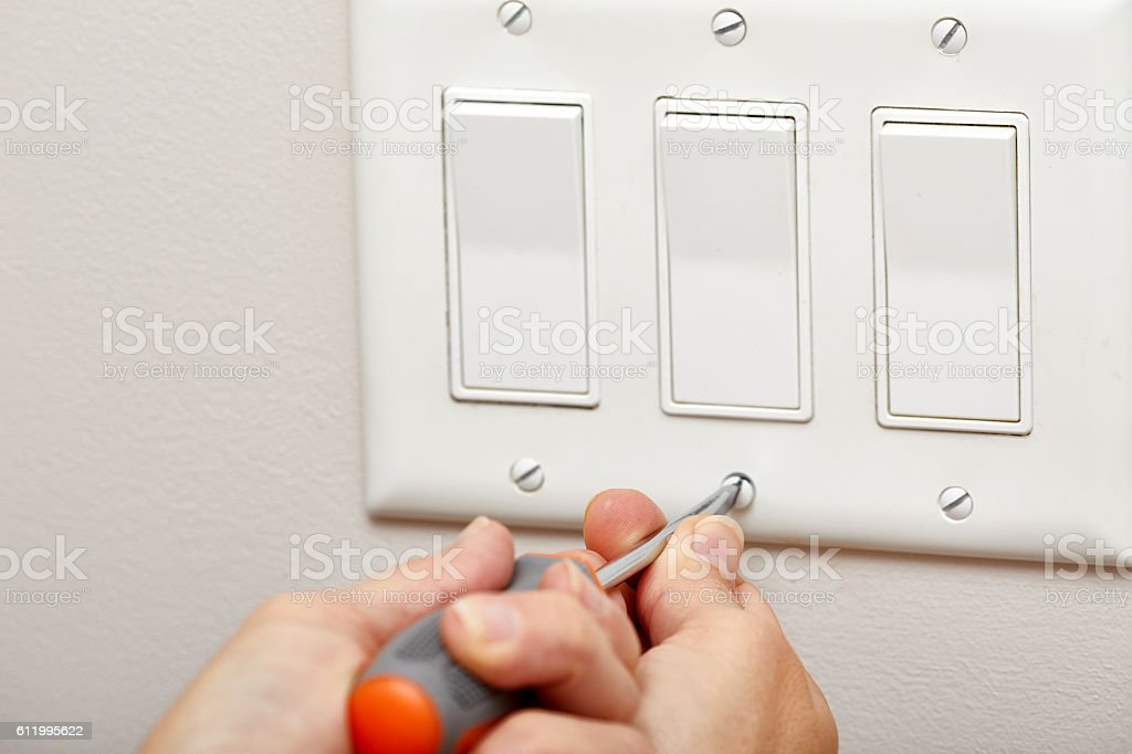 Switch repairing. stock photo