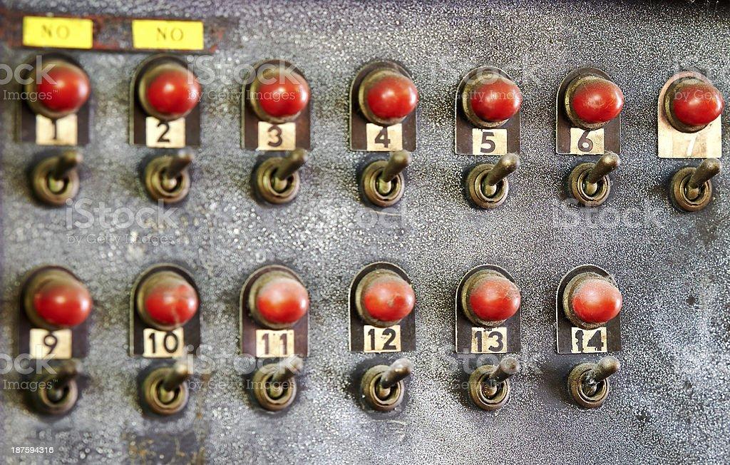 Switch series stock photo