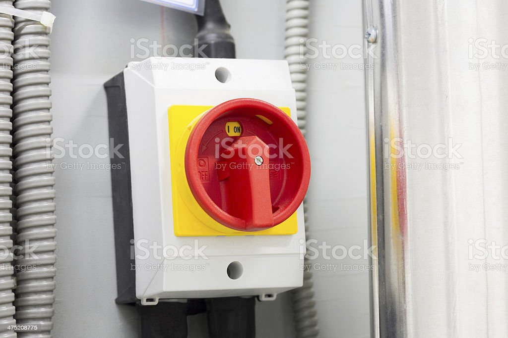 Switch - The industrial unit of power distribution system royalty-free stock photo