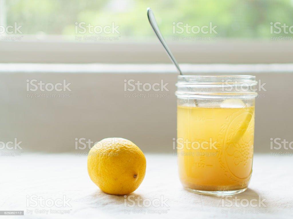 Switchel and Lemon stock photo