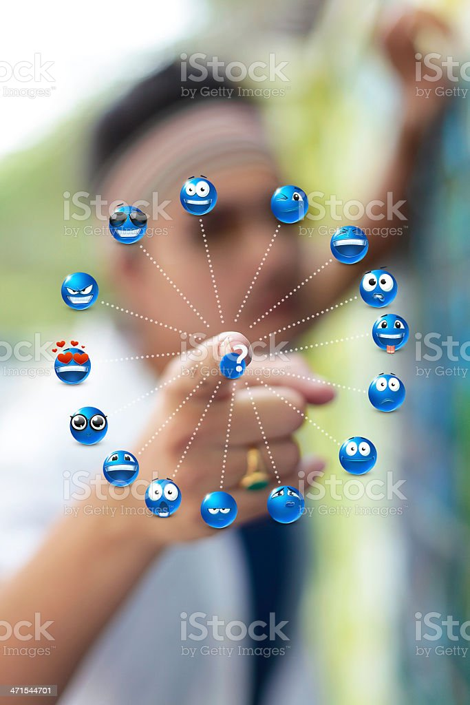Switching to an emotion royalty-free stock photo