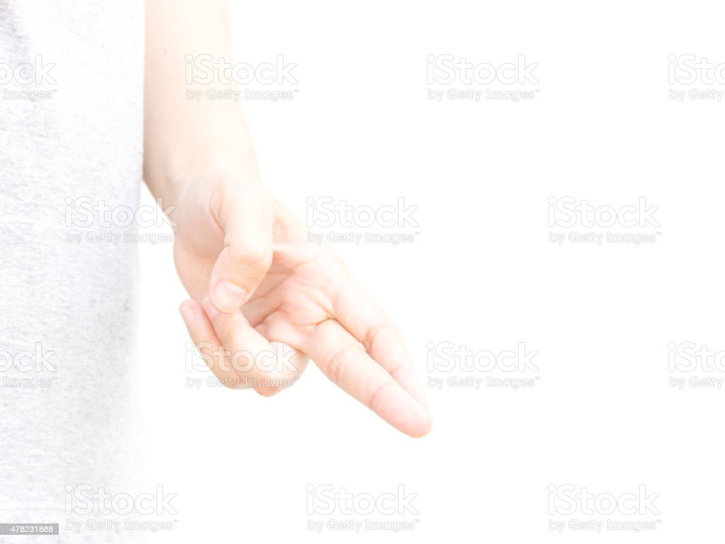 Swith finger hand metaphor with lie stock photo