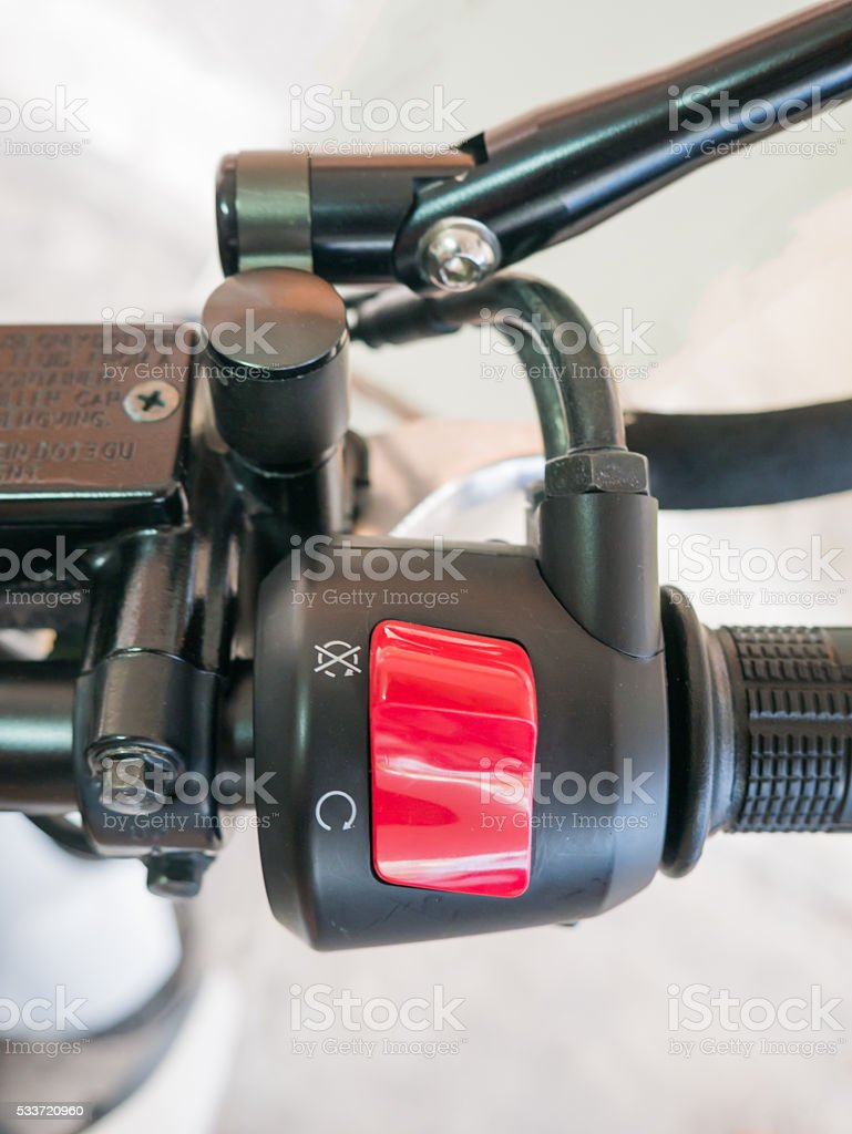 swith on hand motorcycle stock photo