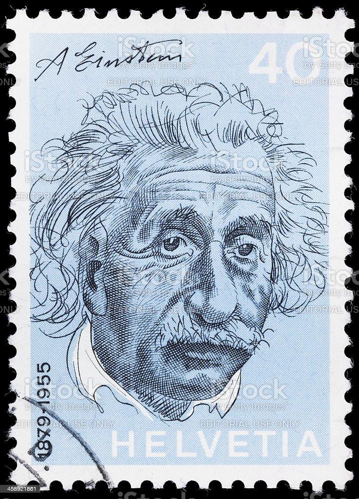 Switzerland Albert Einstein postage stamp stock photo