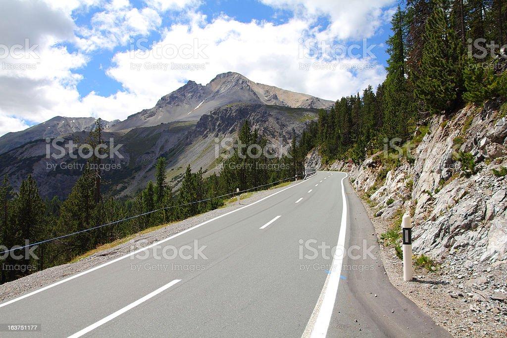 Switzerland - Alpine road stock photo