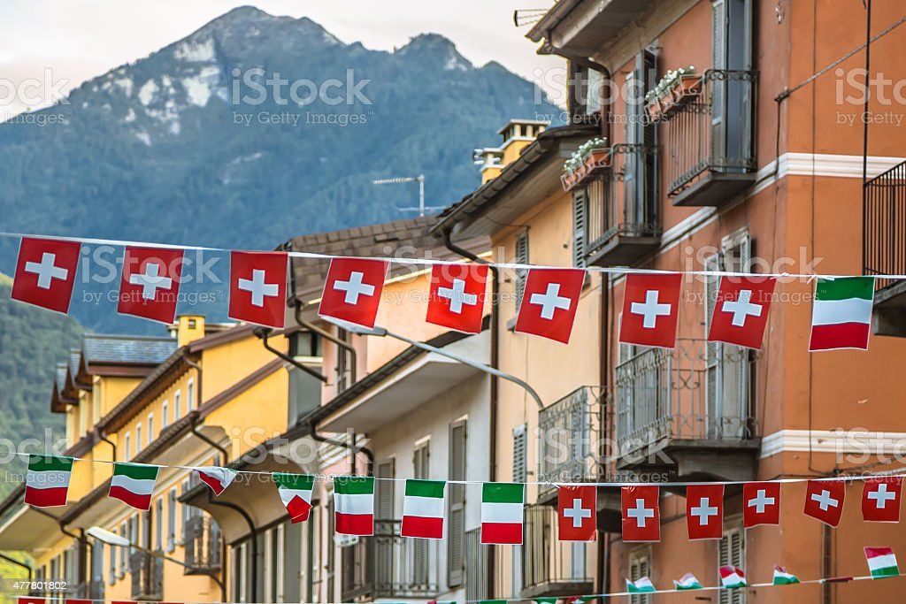 Switzerland and Italy stock photo
