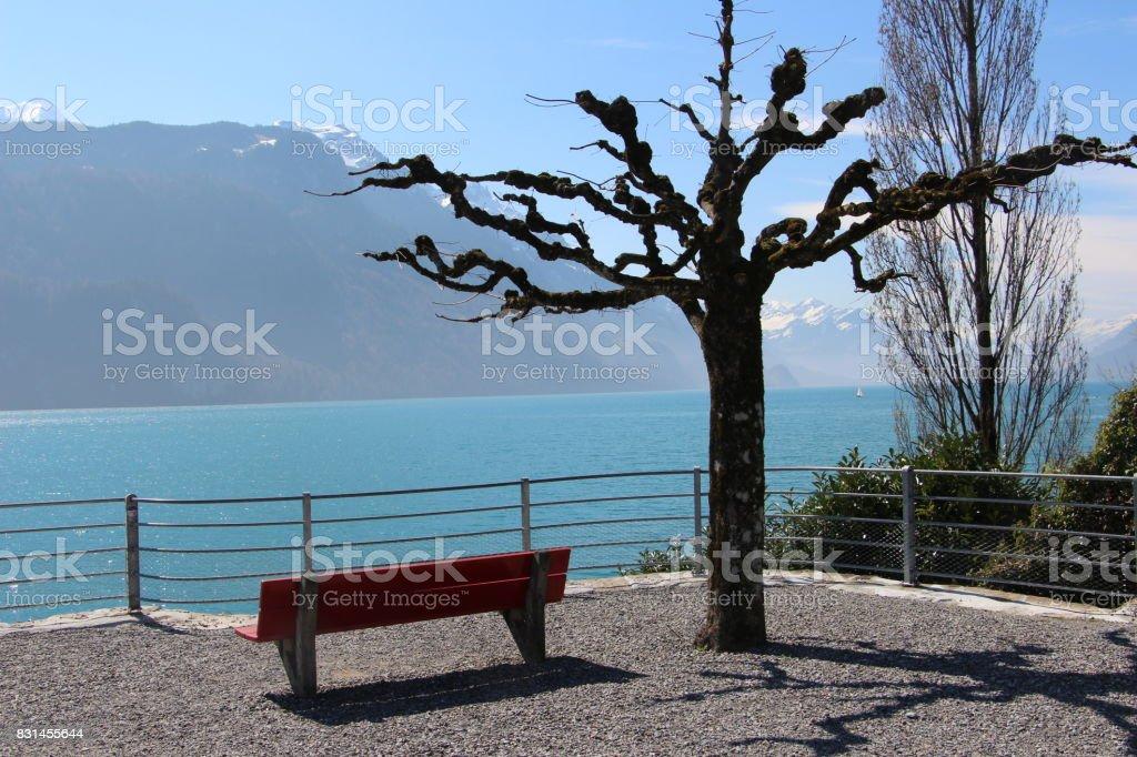 Switzerland - Brienz lake stock photo