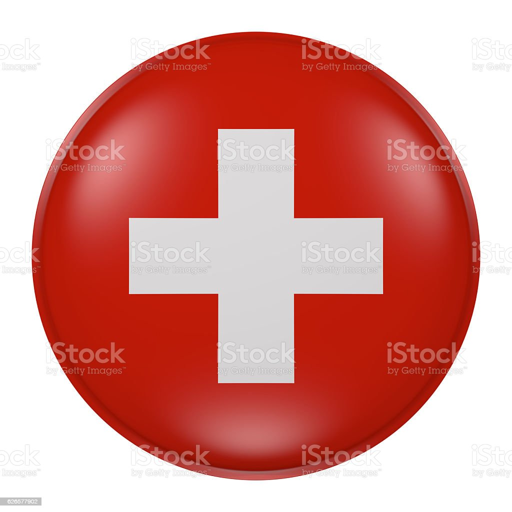 Switzerland button vector art illustration
