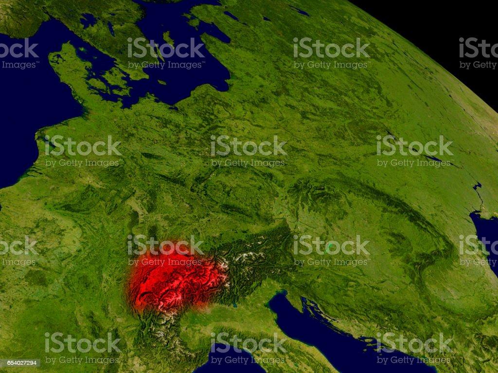 Switzerland from space stock photo