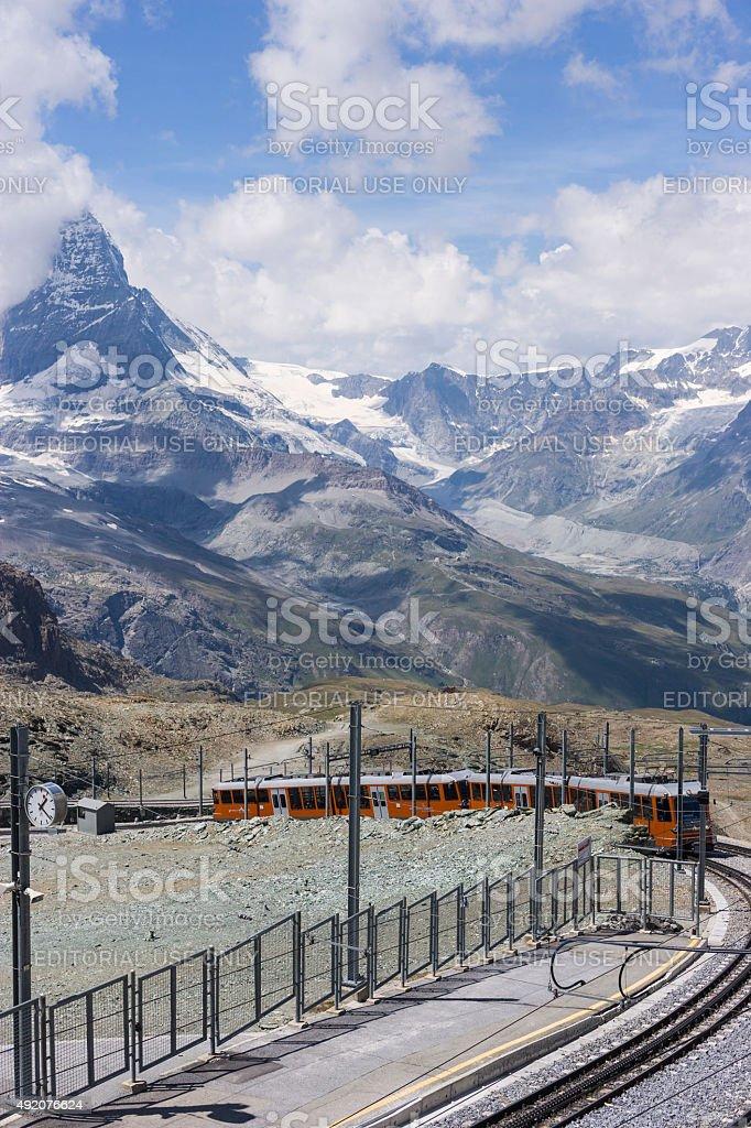 Switzerland. Gornergrat's train stock photo