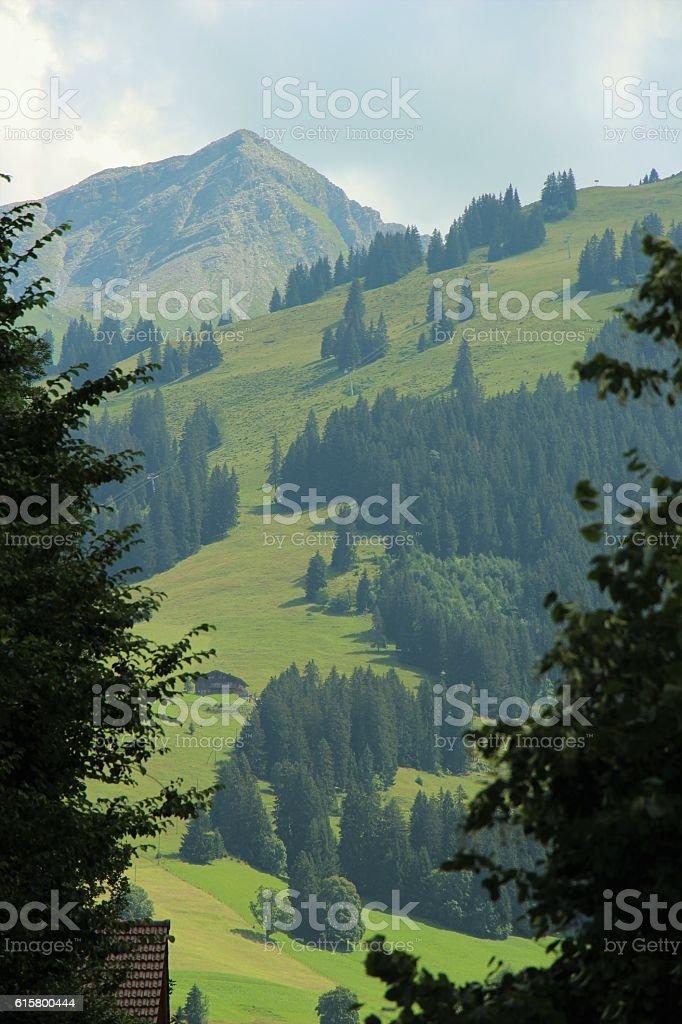switzerland - gstaad, panorama stock photo