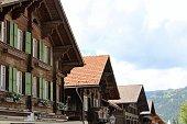 switzerland - gstaad, village