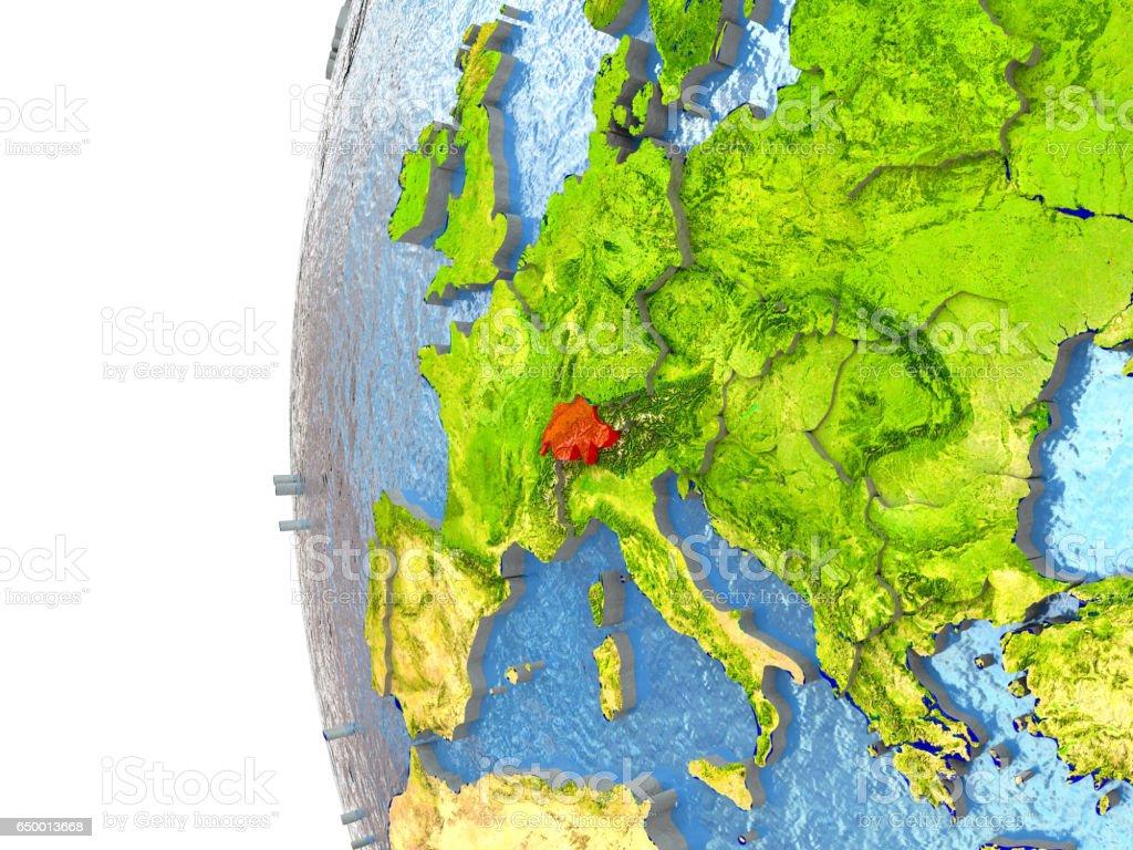 Switzerland in red stock photo