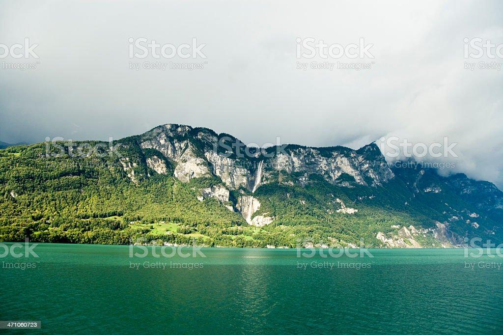 Switzerland Lake Walensee stock photo
